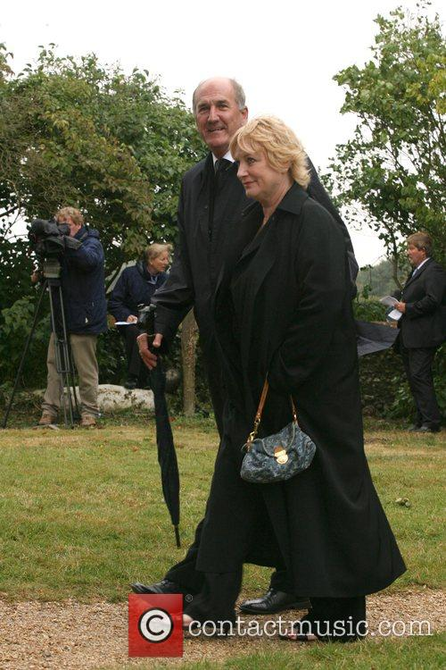 Russ Abbot and wife Patricia Simpson The funeral...