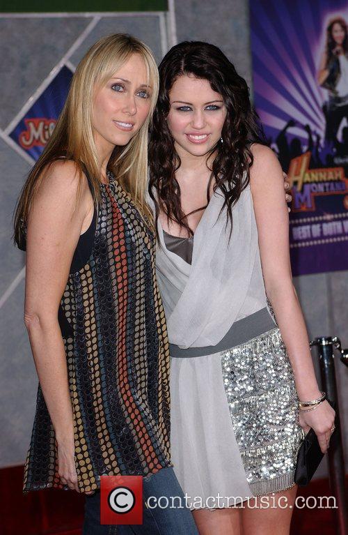 Miley Cyrus and mother Film premiere Walt Disney...