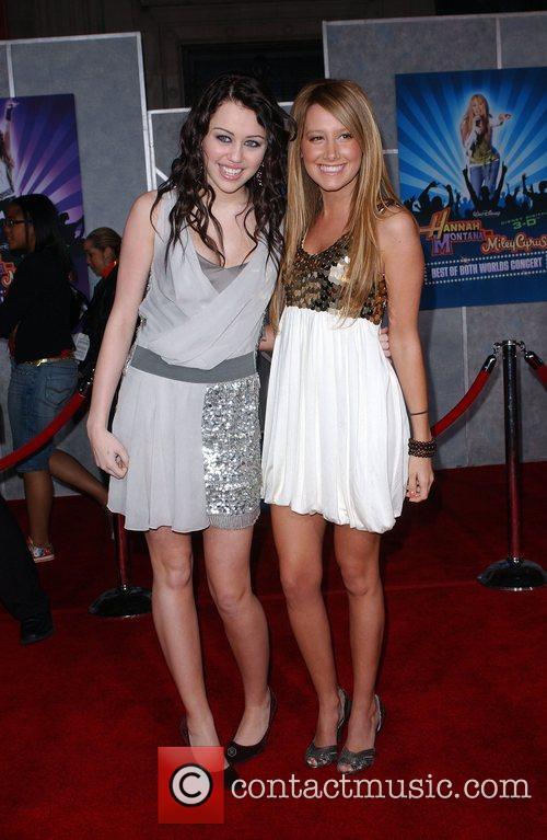 Miley Cyrus and Ashley Tisdale Film premiere Walt...