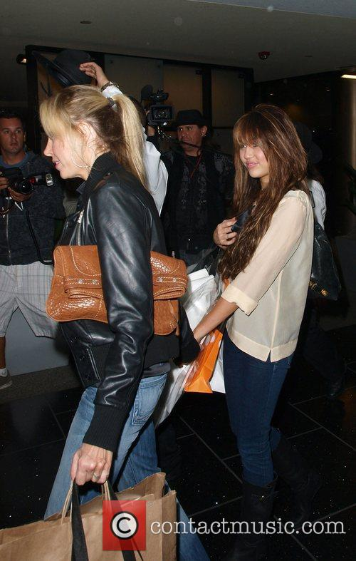 Miley Cyrus with her mother Leticia Cyrus at...