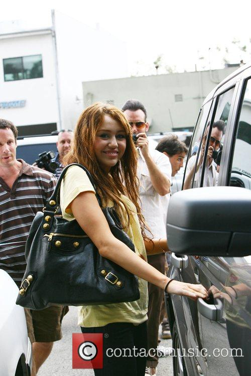 Miley Ray Cyrus going out to eat at...