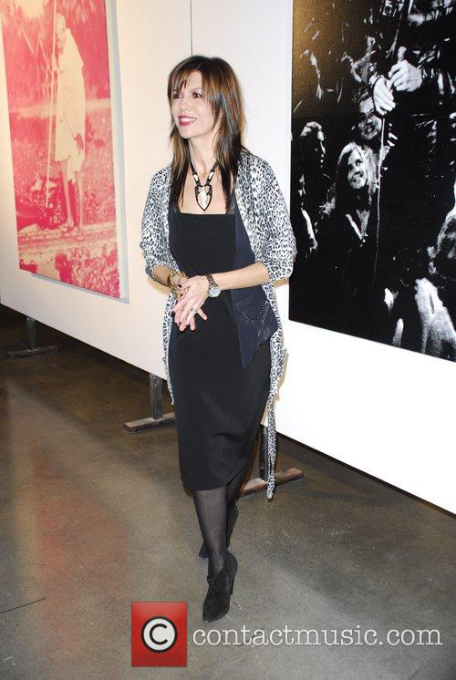 Finola Hughes Russell Young Art Opening Reception at...