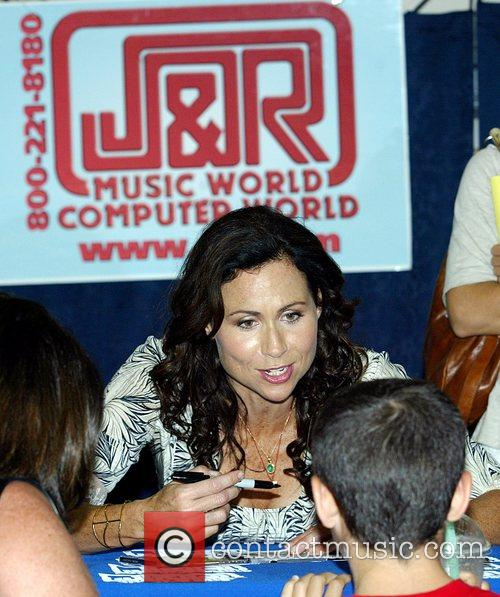 Minnie Driver appears at J&R Music World to...