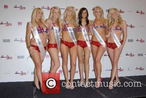 Contestants Miss Great Britain finalists at the Riverside...