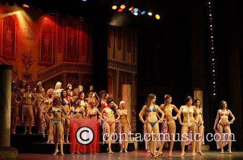Contestants Miss Earth Australia pageant, held at the...