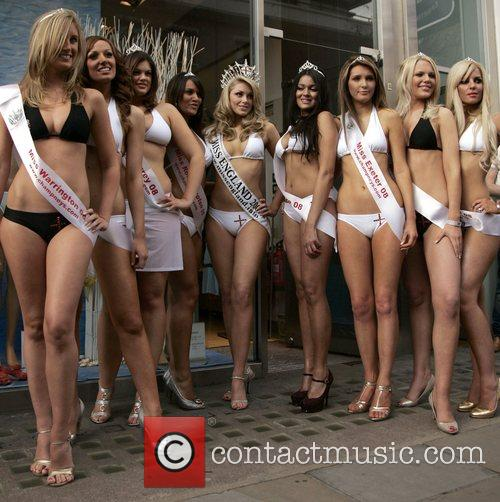 Finalists of Miss England 2008 proudly present the...
