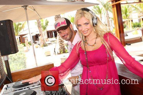 Miss Russia Tatiana Kotova at the DJ booth...