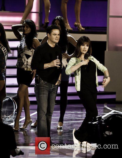 Donny Osmond, Marie Osmond Miss USA 2008 rehearsal...
