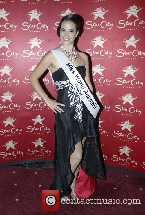 Contestant Susy Natal Miss World Australia 2008 crowning...