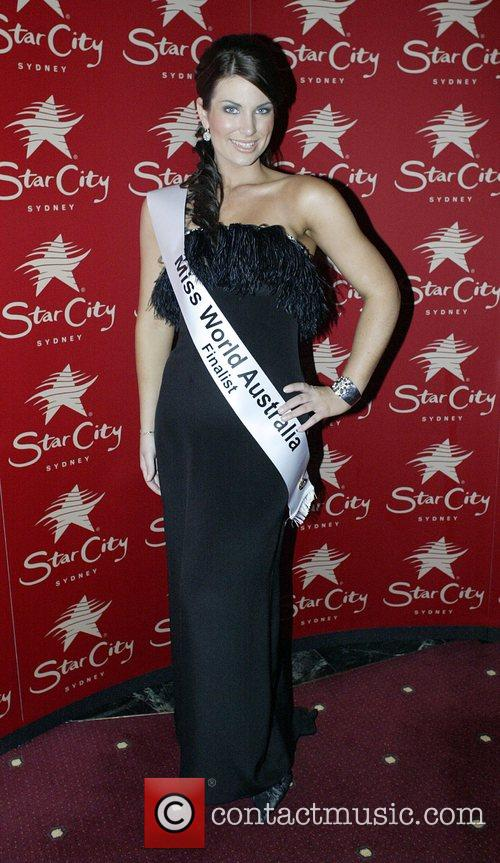 Contestant Tracey Sweeney Miss World Australia 2008 crowning...