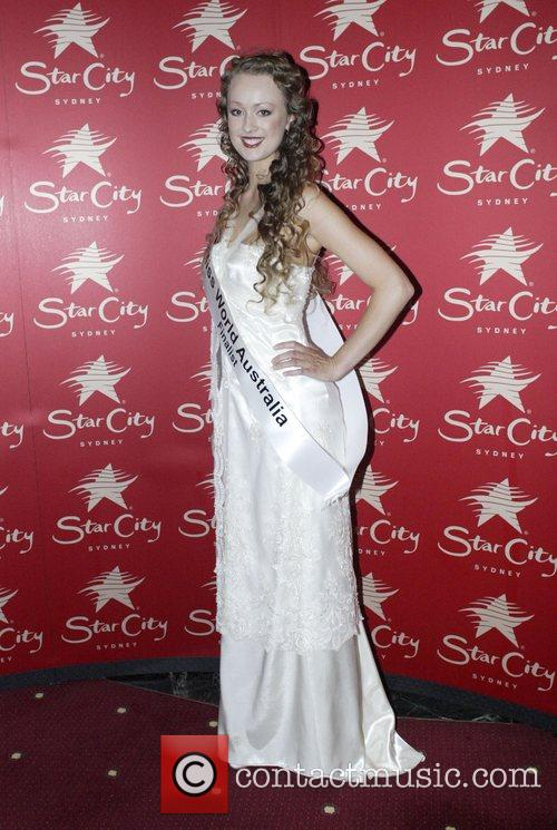 Contestant Victoria Letherby Miss World Australia 2008 crowning...