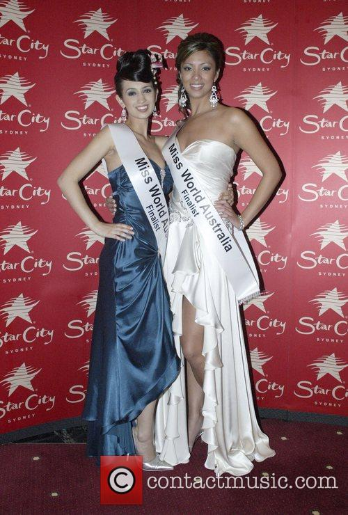 Contestants Julie Goodwin and Marianne Grandjean Thomsen Miss...