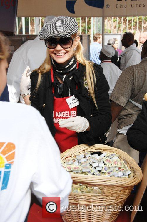 'Thanksgiving for the Homeless' at the Los Angeles...