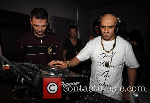 Tim Westwood and Goldie at Mix Mag 25th...