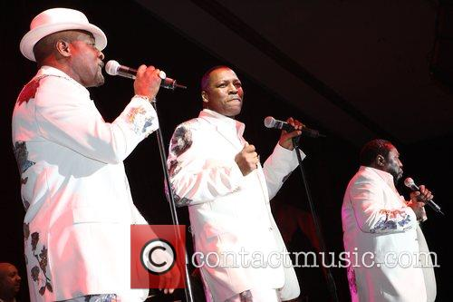The O'Jays performing at the Michael Jordan Celebrity...
