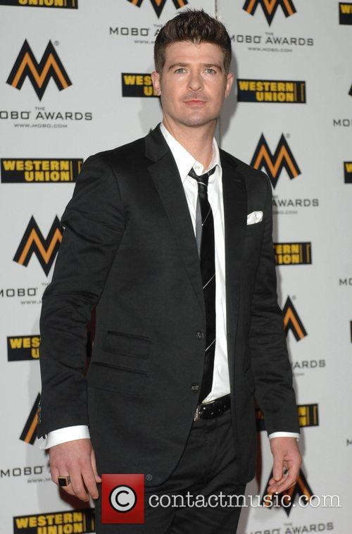 Robin Thicke The MOBO Awards held at the...