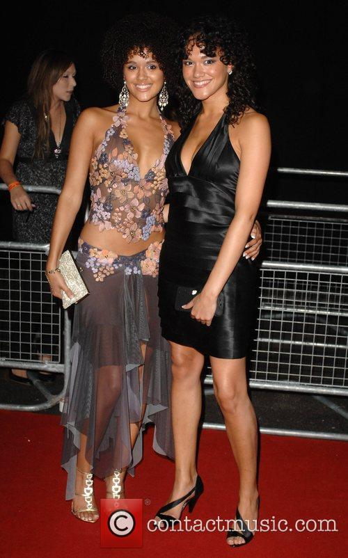 Nathalie Emmanuel (L) and guest The MOBO Awards...