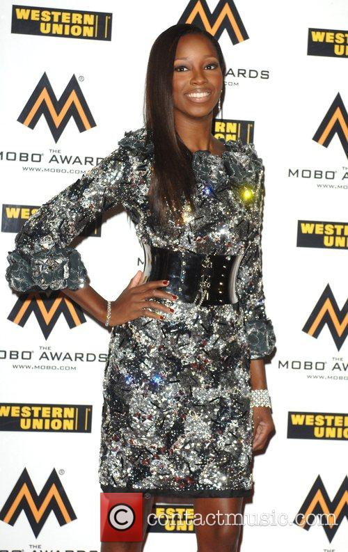 Jamelia The MOBO Awards held at the O2...