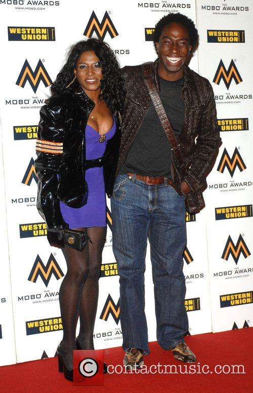 Sinitta and guest The MOBO Awards held at...