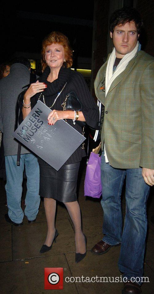 Cilla Black leaving the private view of 'Modern...