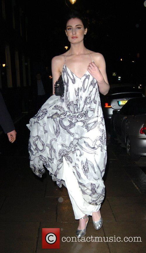 Erin O'Connor leaving the private view of 'Modern...