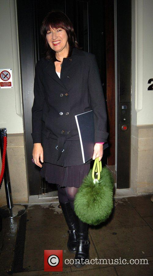 Janet Street-Porter leaving the private view of 'Modern...