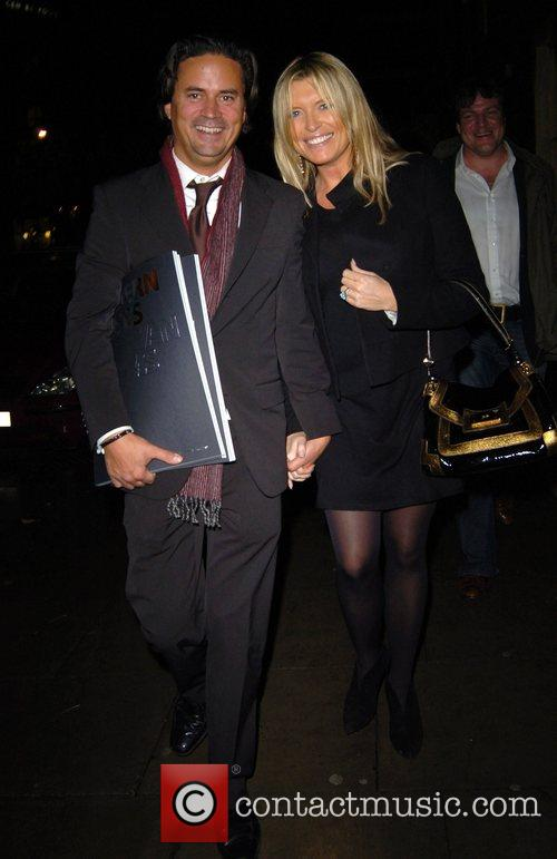 Tina Hobley leaving the private view of 'Modern...