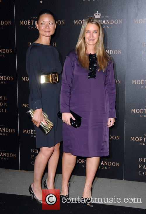 Anya Hindmarch (R) and guest The Moet Mirage...
