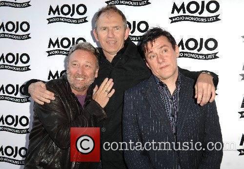 New Order members Stephen Morris, Peter Hook and...