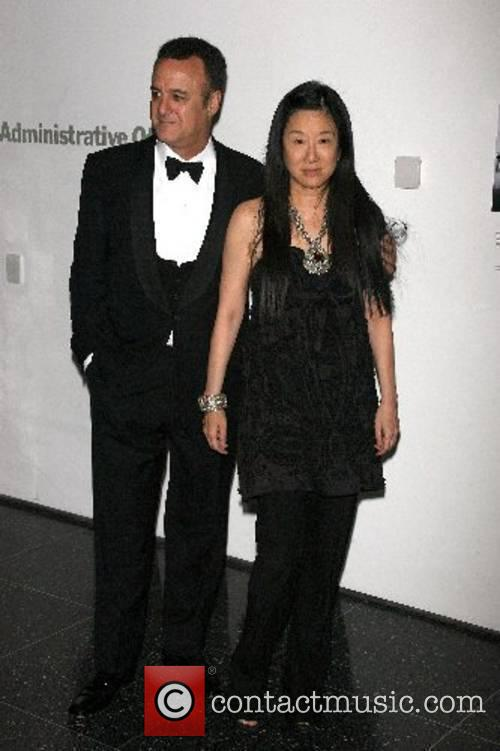 Vera Wang and guest Arriving at The Museum...
