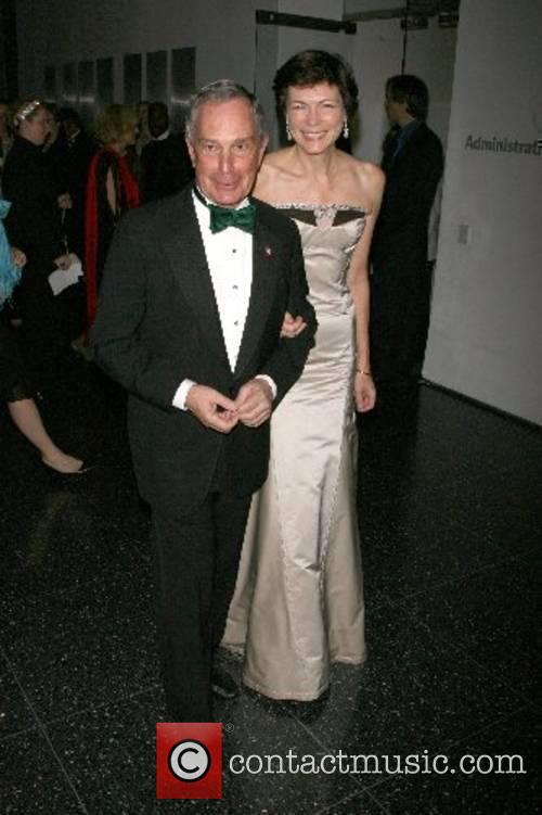 Michael Bloomberg and Diana Taylor Arriving at The...