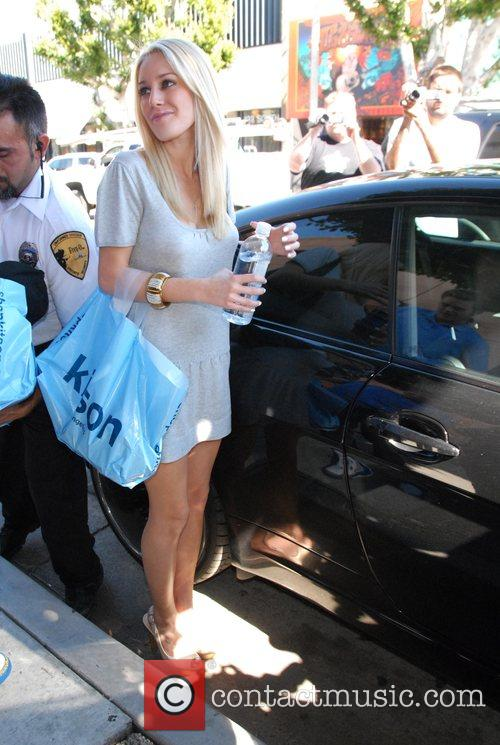 Heidi Montag on Robertson Boulevard after shopping at...