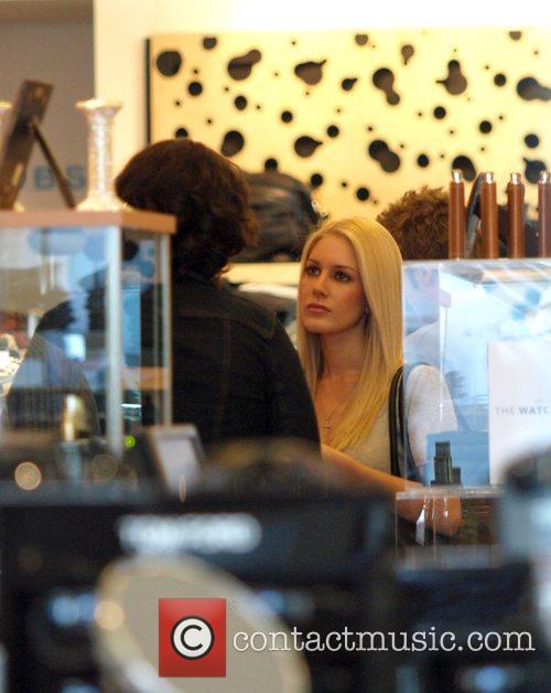 Heidi Montag shopping at Kitson on Robertson Boulevard...