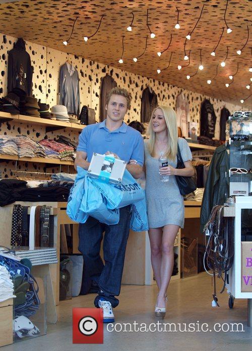 Spencer Pratt and Heidi Montag  shopping at...