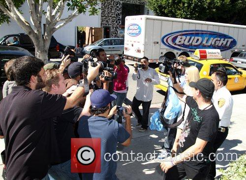 Spencer Pratt and Heidi Montag  surrounded by...