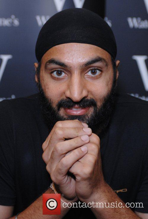 Monty Panesar signing copies of his new book...