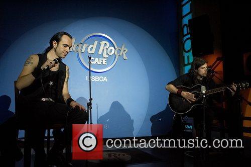 Fernando Ribeiro singer and Ricardo Amorim guitar Moonspell...