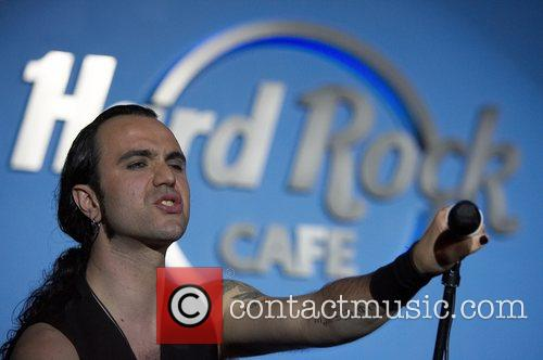 Fernando Ribeiro singer of Moonspell during the acoustic...