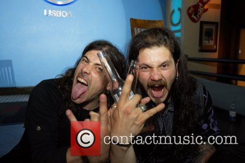 Ricardo Amorim (Guitar) and Mike Gaspar (Drumas) at...