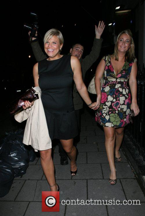 Jade Goody does realise a photographer is pulling...