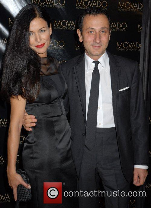 Giles Mendel and guest Movado celebrates 60 years...