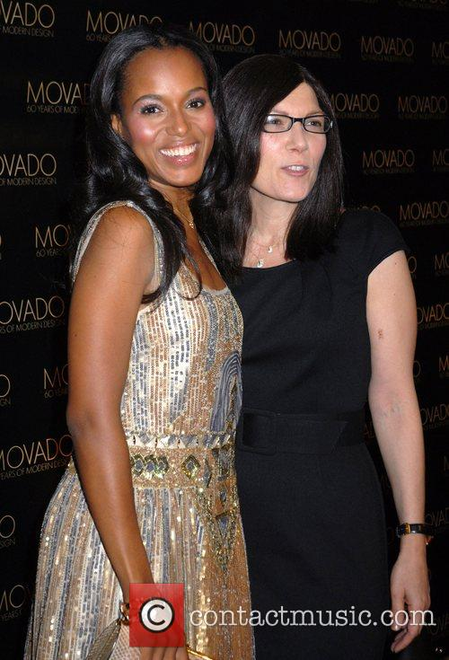 Kerry Washington and guest Movado celebrates 60 years...