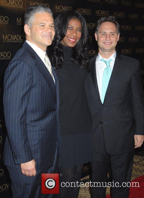 Efraim Grinberg, Natalie Cole and guest Movado celebrates...
