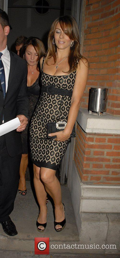 Elizabeth Hurley,  attend the exhibition of photographs...