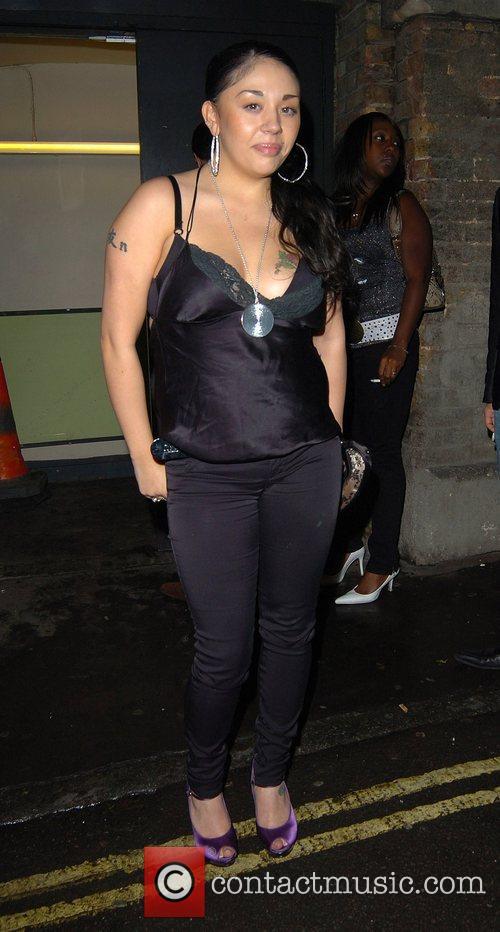 Mutya Buena outside Movida nightclub London, England