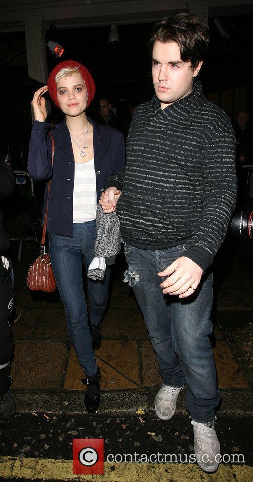Pixie Geldof leaving Movida nightclub.