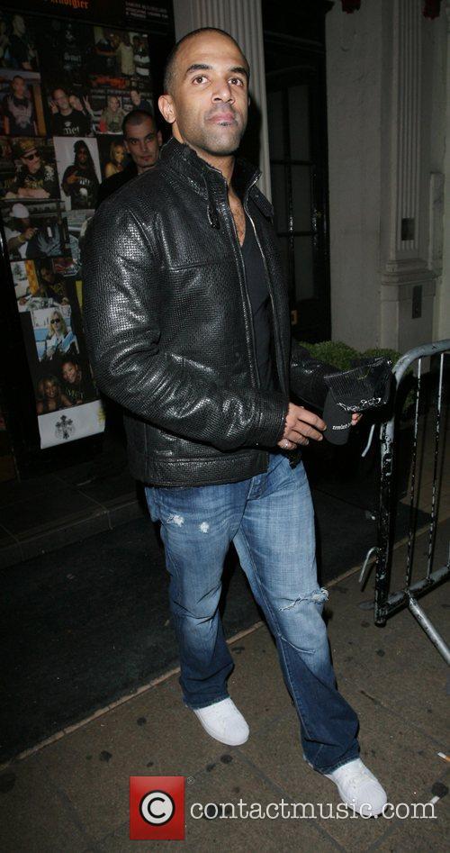 Craig David leaving Movida nightclub London, England