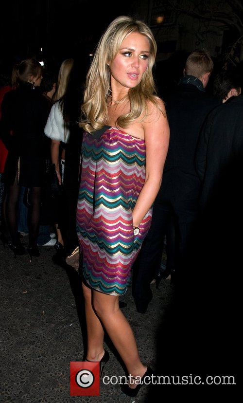 Alex Curran  leaving Movida London, England