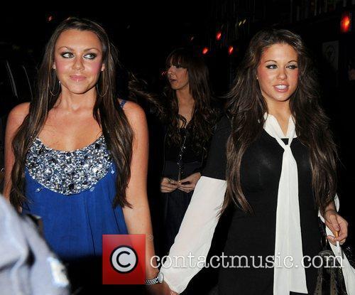 Michelle Heaton and Bianca Gascoigne at Movida Club...