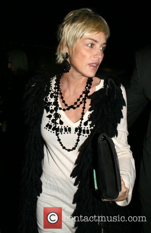 Leaving Mr Chow restaurant in Beverly Hills